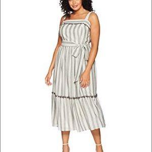Maggy London Striped Pom Pom Dress